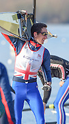 Caversham  Great Britain.<br /> Will FLETCHER, on the pontoon, after an early paddle at the 2016 GBR Rowing Team Olympic Trials GBR Rowing Training Centre, Nr Reading  England.<br /> <br /> Tuesday  22/03/2016 <br /> <br /> [Mandatory Credit; Peter Spurrier/Intersport-images]