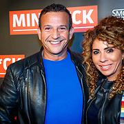 NLD/Amsterdam/20181025 - Inloop Victor Mids Live, Najib Amhali en partner Niama El Bahi - le Boudoir