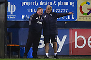 AFC Wimbledon Manager Wally Downes during the EFL Sky Bet League 1 match between Luton Town and AFC Wimbledon at Kenilworth Road, Luton, England on 23 April 2019.