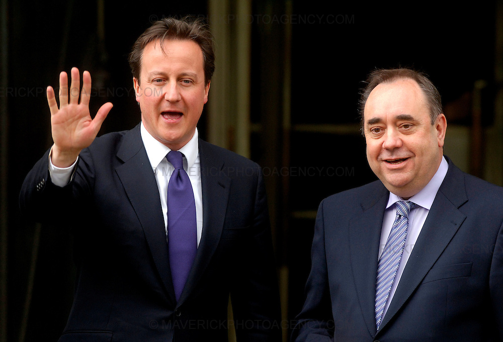 EDINBURGH, UK - 14th May 2010: Prime Minister David Cameron meets First Minister of Scotland Alex Salmond at St Andrews House in Edinburgh this afternoon...(Photograph: Richard Scott/MAVERICK)