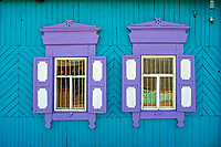 Russie, Siberie, Oblast d'Irkoutsk, lac Baikal, ile d'Olkhon, Khoujir, fenetre // Russia, Siberia, Irkutsk oblast, Baikal lake, ile d'Olkhon, Khoujir, window