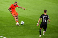 Memphis Depay of the Netherlands, Christoph Baumgartner of Austria during the UEFA Euro 2020, Group C football match between Netherlands and Austria on June 17, 2021 at the Johan Cruijff ArenA in Amsterdam, Netherlands - Photo Marcel ter Bals / Orange Pictures / ProSportsImages / DPPI