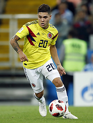 Juan Quintero of Colombia during the 2018 FIFA World Cup Russia round of 16 match between Columbia and England at the Spartak stadium  on July 03, 2018 in Moscow, Russia