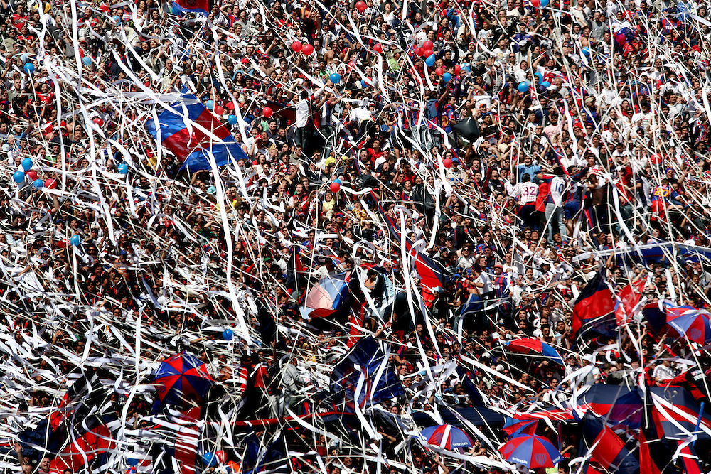 Football fans at a San Lorenzo home game, Buenos Aires