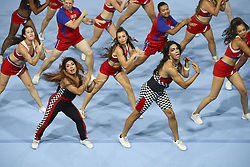 August 6, 2018 - Paris, FRANCE - New York Cheerleaders team (Credit Image: © Panoramic via ZUMA Press)