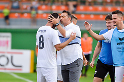Marco Da Silva of NK Krsko and Stipe Balajic, coach of NK Krsko during football match between NS Mura and NK Krsko in 5th Round of Prva liga Telekom Slovenije 2018/19, on August 19, 2018 in Mestni stadion Fazanerija, Murska Sobota, Slovenia. Photo by Mario Horvat / Sportida
