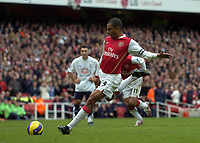 Photo: Olly Greenwood.<br />Arsenal v Tottenham Hotspur. The Barclays Premiership. 02/12/2006. Arsenal's Gilberto scores from the penalty spot