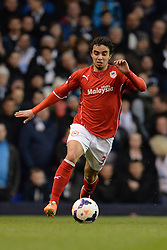 Cardiff's Fabio runs with the ball - Photo mandatory by-line: Mitchell Gunn/JMP - Tel: Mobile: 07966 386802 02/03/2014 - SPORT - FOOTBALL - White Hart Lane - London - Tottenham Hotspur v Cardiff City - Premier League