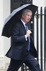 Downing Street, London, May 10th 2016. Defence Secretary Michael Fallon arrives at the weekly cabinet meeting in Downing Street.