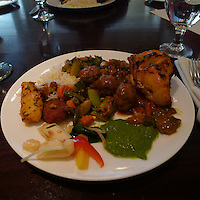 Lunch at the Amber Indian Restaurant, San Francisco. Image taken with a Leica D-Lux 5 camera (ISO 400, 5 mm, f/2, 1/15 sec)