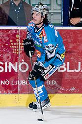 Franklin MacDonald (EHC Liwest Black Wings Linz, #5) during ice-hockey match between HDD Tilia Olimpija and EHC Liwest Black Wings Linz in 19th Round of EBEL league, on November 7, 2010 at Hala Tivoli, Ljubljana, Slovenia. (Photo By Matic Klansek Velej / Sportida.com)