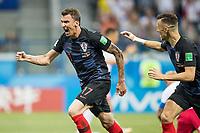 01.07.2018 NIZNY NOWOGROD NIZHNY NOVGOROD PILKA NOZNA (FOOTBALL) MISTRZOSTWA SWIATA ROSJA 2018 FIFA World Cup WM Weltmeisterschaft Fussball RUSSIA 2018 1/8 FINAL CHORWACJA - DANIA (CROATIA-DENMARK) NZ MARIO MANDZUKIC BRAMKA RADOSC GOL GOAL FOTO LUKASZ SKWIOT/CYFRASPORT FRANCE OUT! PUBLICATIONxNOTxINxPOL