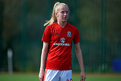 YSTRAD MYNACH, WALES - Wednesday, April 5, 2017: Wales' Amelia Ritchie during the pre-match warm-up before the Women's International Friendly match against Northern Ireland at Ystrad Mynach. (Pic by Laura Malkin/Propaganda)