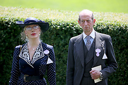 Donatella Flick and The Duke of Kent arriving during day two of Royal Ascot at Ascot Racecourse.