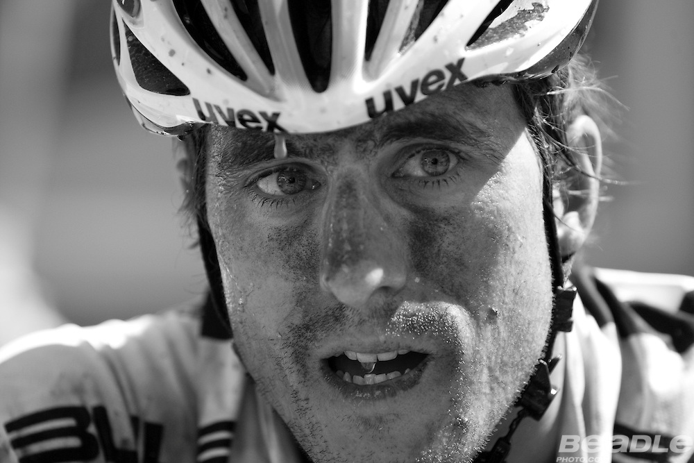 Stefan Sahm of Team Bulls 1 reflects on their fight back to take overall lead after finishing stage three of the 2010 Absa Cape Epic Mountain Bike stage race from Ceres to Ceres in the Western Cape, South Africa on the 21 March 2010.Photo by Greg Beadle/SPORTZPICS