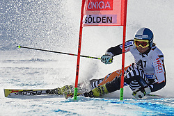 27.10.2013, Rettenbach Ferner, Soelden, AUT, FIS Weltcup, Ski Alpin, Riesenslalom, Herren, 1. Durchgang, im Bild Marcus Sandell from Finland // Marcus Sandell from Finland in action during 1st run of mens Giant Slalom of the FIS Ski Alpine Worldcup opening at the Rettenbachferner in Soelden, Austria on 2012/10/27. EXPA Pictures © 2013, PhotoCredit: EXPA/ Mitchell Gunn<br /> <br /> *****ATTENTION - OUT of GBR*****