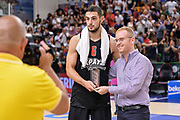 DESCRIZIONE : Trofeo Meridiana Dinamo Banco di Sardegna Sassari - Olimpiacos Piraeus Pireo<br /> GIOCATORE : Ioannis Papapetrou<br /> CATEGORIA : Premio Coppa Premiazione Targa<br /> SQUADRA : Olimpiacos Piraeus Pireo<br /> EVENTO : Trofeo Meridiana <br /> GARA : Dinamo Banco di Sardegna Sassari - Olimpiacos Piraeus Pireo Trofeo Meridiana<br /> DATA : 16/09/2015<br /> SPORT : Pallacanestro <br /> AUTORE : Agenzia Ciamillo-Castoria/L.Canu