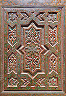 Geometric Berber Arabesque carved wood oor panels from Kasbah Telouet, Atla Mountains Morocco .<br /> <br /> Visit our MOROCCO HISTORIC PLAXES PHOTO COLLECTIONS for more   photos  to download or buy as prints https://funkystock.photoshelter.com/gallery-collection/Morocco-Pictures-Photos-and-Images/C0000ds6t1_cvhPo<br /> .<br /> <br /> Visit our ISLAMIC HISTORICAL PLACES PHOTO COLLECTIONS for more photos to download or buy as wall art prints https://funkystock.photoshelter.com/gallery-collection/Islam-Islamic-Historic-Places-Architecture-Pictures-Images-of/C0000n7SGOHt9XWI