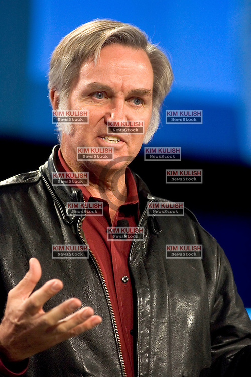 Spacecraft designer Burt Rutan said commercial space flights that will let ordinary individuals go into outer space will start to occur in about 12 years,  during a keynote address at the Intel Developer Forum in San Francisco on Tuesday, March 1, 2005.  Photo by Kim Kulish