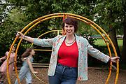 Emma Byrne, Author, Broadcaster, Academic, photographed at Ravenscroft Park, Hammersmith
