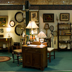 Frederick, Maryland - Inside Emporium Antiques on Patrick Street, dozens of antique vendors gather their wares in one gigantic market.  Photo by Susana Raab