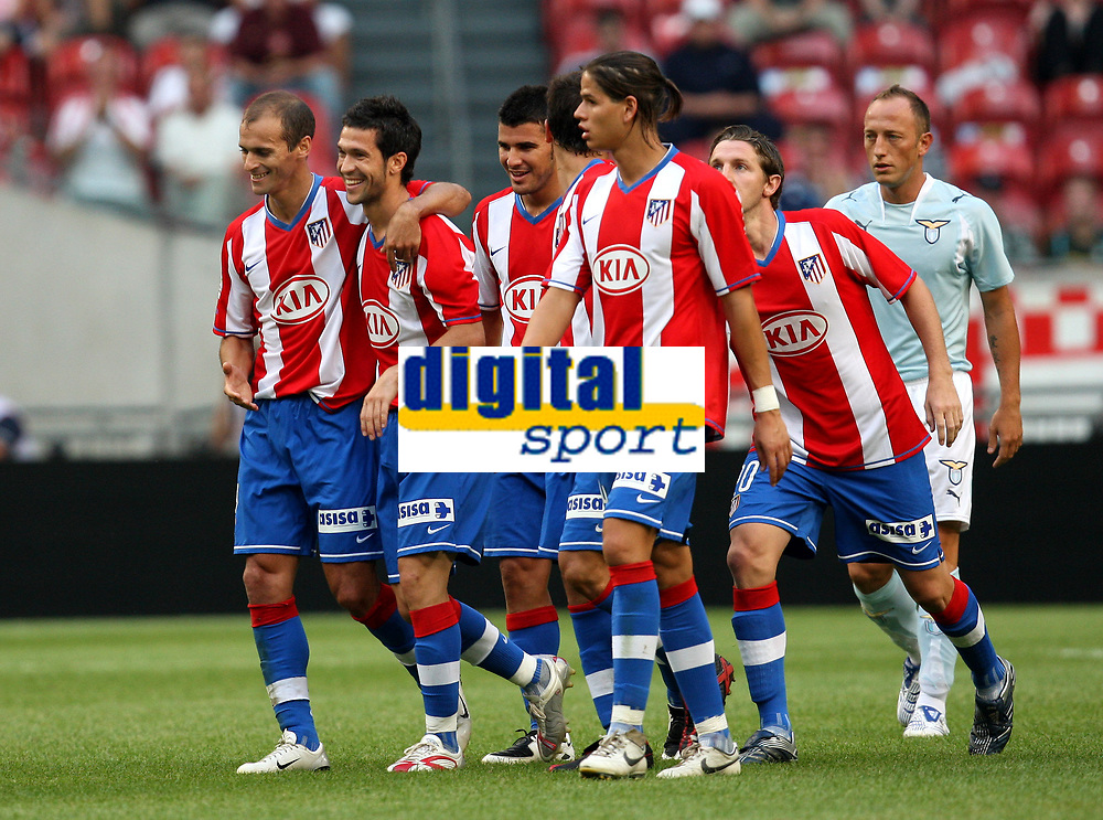 Photo: Maarten Straetemans.<br /> Lazio v Athletico Madrid. LG Amsterdam Tournament. 04/08/2007.<br /> Luis Garcia (2nd from left) scored the 0-2 for Atletico
