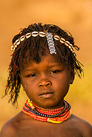 Young Nyangatom tribe girl, Omo Valley, Ethiopia.
