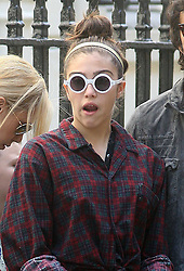 ©London News Pictures. 15/01/2011 .Picture Credit Should read Neil Hall/London News Pictures.Madonna directs her new period film W.E. starring Abbie Cornish about the abdication of King Edward in London on 08/08/2010 Pictured is her daughter Lourdes yawned as she visited the set