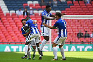 Thatcham Town players celebrate winning 1-0 during the FA Vase match between Stockton Town and Thatcham Town at Wembley Stadium, London, England on 20 May 2018. Picture by Stephen Wright