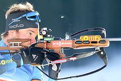 Guigonnat Antonin of France competes during the IBU World Championships Biathlon Single Mixed Relay competition on February 18, 2021 in Pokljuka, Slovenia. Photo by Vid Ponikvar / Sportida