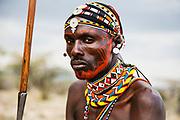 A portrait of a Samburu warrior,Samburu, Kenya, Africa