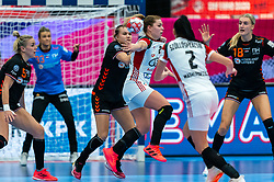 / in action during the Women's EHF Euro 2020 match between Netherlands and Hungry at Sydbank Arena on december 08, 2020 in Kolding, Denmark (Photo by RHF Agency/Ronald Hoogendoorn)
