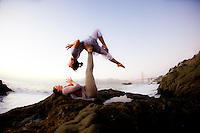 Lucie Beyer & Almuth Kramer at Baker Beach, San Francisco