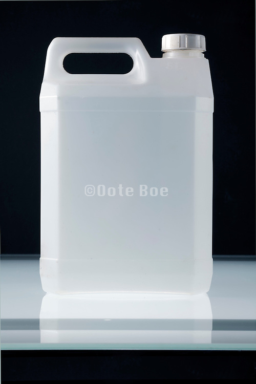 semi transparent plastic canister
