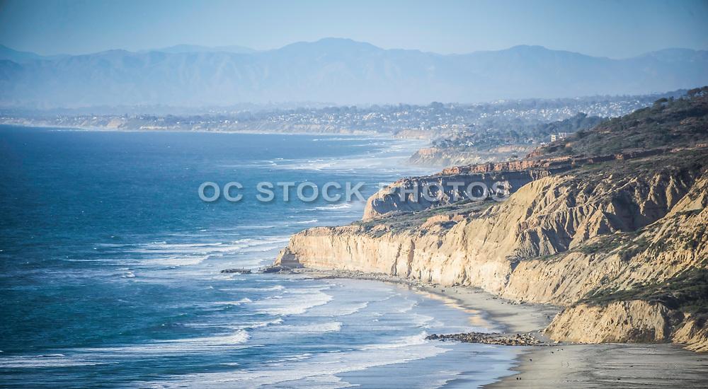 Hazy Skies Over The Coast Of La Jolla