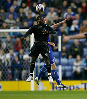 Photo: Steve Bond/Richard Lane Photography. Leicester City v Peterborough United. Coca-Cola Football League One. 20/12/2008. Aaron McLean in the air