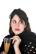 Seductive woman at a cocktail