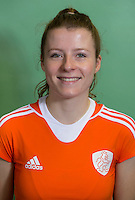 DELFT - Fabienne Roosen. Nederlands zaalhockeyteam dames voor EK in Minsk. COPYRIGHT KOEN SUYK