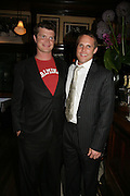 Jack Kidd and Jamie Morrison, PJ's Annual Polo Party . Annual Pre-Polo party that celebrates the start of the 2007 Polo season.  PJ's Bar & Grill, 52 Fulham Road, London, SW3. 14 May 2007. <br /> -DO NOT ARCHIVE-© Copyright Photograph by Dafydd Jones. 248 Clapham Rd. London SW9 0PZ. Tel 0207 820 0771. www.dafjones.com.