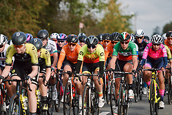 Chloe Hosking (AUS) in the bunch at the 2020 Brabantse Pijl - Elite Women, a 121 km road race from Lennik to Overijse, Belgium on October 7, 2020. Photo by Sean Robinson/velofocus.com