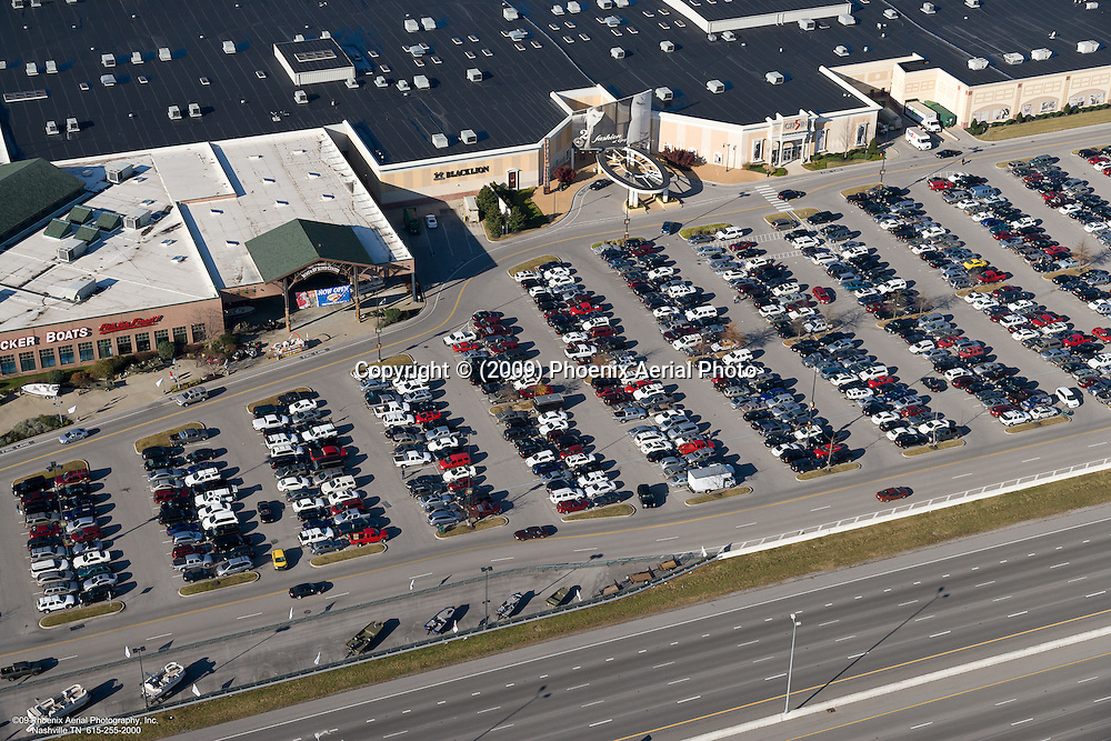 Aerial photo of a portion of Opry Mills Mall on Black Friday.