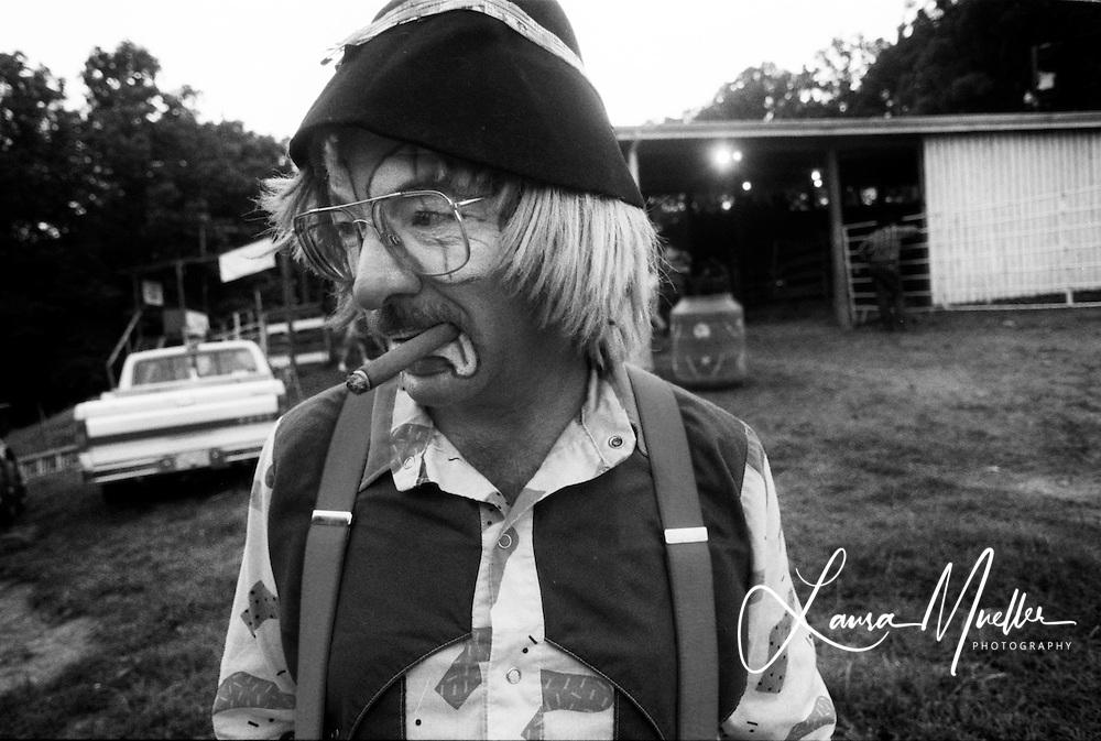 1992 - Rodeo clown. © Laura Mueller