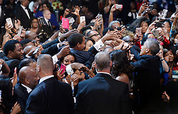 US President Barack Obama and First Lady Michelle Obama greet guests at the Congressional Black Caucus (CBC) Foundation's 46th Annual Legislative Conference on September 17, 2016 in Washington, DC, USA. Photo by Olivier Douliery/Pool/ABACAPRESS.COM