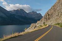 Going-to-the-Sun Road at Saint Mary Lake Glacier National Park