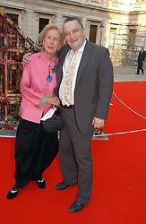 ROSAMUND BERNIER and NORMAN ROSENTHAL at the Royal Academy of Art's SUmmer Party following the official opening of the Summer Exhibition held at the Royal Academy of Art, Burlington House, Piccadilly, London W1 on 7th June 2006.<br /><br />NON EXCLUSIVE - WORLD RIGHTS
