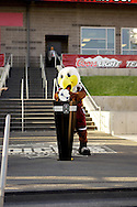 August 4, 2012: Edison the Eagle, midfielder mascot for the Colorado Rapids places the game ball on the ball stand prior to the start of the game against Real Salt Lake at Dick's Sporting Goods Park in Denver, Colorado