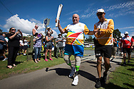 Batonbearer Brad Butterfield carrying the Baton as the Queen's Baton Relay visited  Batemans Bay. From 25 January to 2 March 2018, the Queen's Baton will visit every other state and territory before Queensland. As the Queen's Baton Relay travels the length and breadth of Australia, it will not just pass through, but spend quality time in each community it visits, calling into hundreds of local schools and community celebrations in every state and territory. The Gold Coast 2018 Commonwealth Games (GC2018) Queen's Baton Relay is the longest and most accessible in history, travelling through the Commonwealth for 388 days and 230,000 kilometres. After spending 100 days being carried by approximately 3,800 batonbearers in Australia, the Queen's Baton journey will finish at the GC2018 Opening Ceremony on the Gold Coast on 4 April 2018.