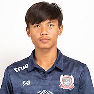 THAILAND - JUNE 07: Sitthichok Moolon #36 of Suphan Buri FC on June 07, 2019.<br /> .<br /> .<br /> .<br /> (Photo by: Naratip Golf Srisupab/SEALs Sports Images/MB Media Solutions)
