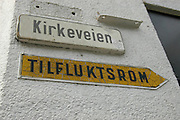 Tilflukstrom - Nuclear Fallout Shelter, on Kirkeveien, Oslo. During the Cold War, and in the event of nuclear war, Oslo residents could hide in underground bunkers