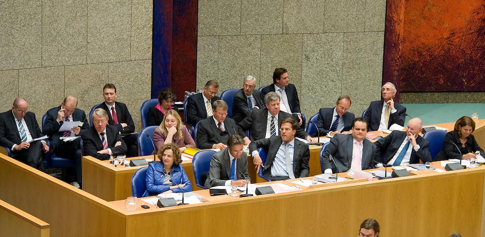 Nederland, den Haag, 26 okt 2010.Het kabinet in Tweede kamer tijdens algemene politieke beschouwingen, vak k...Foto (c)  Michiel Wijnbergh